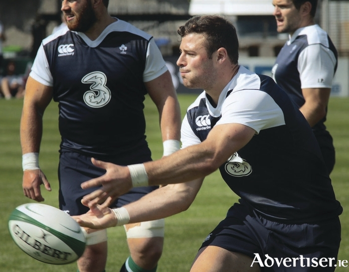 Connacht's Robbie Henshaw training with the Ireland squad in the Sportsground on Tuesday.Photo:-Mike Shaughnessy