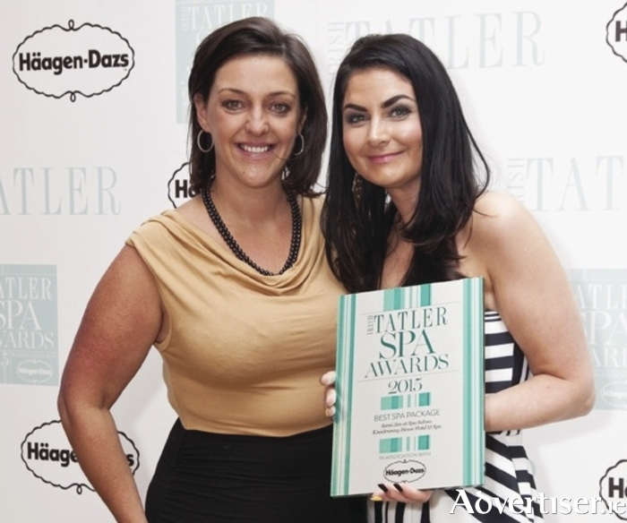 Catherine Russel and Valerie Moran at the Irish Tatler Spa Awards