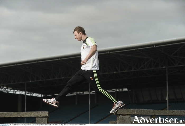 Stepping over: Colm Boyle is ready to help Mayo claim another Connacht title. Photo: Sportsfile
