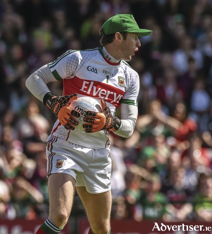 Safe hands: David Clarke knows there's room for improvement, even after Mayo's big win over Sligo. Photo: Sportsfile