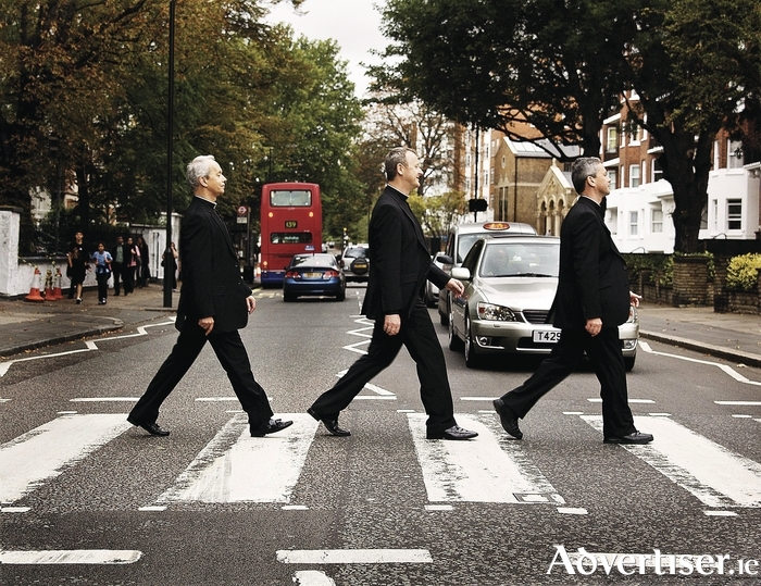 The Priests do a Beatles on Abbey Road.