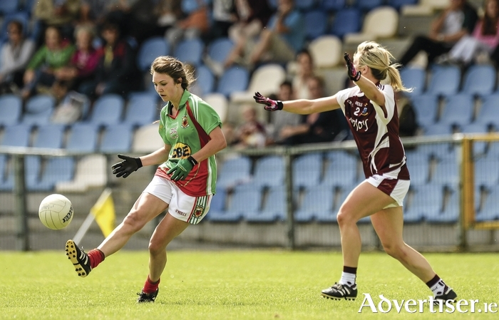Kicking for glory: Niamh Kelly and her team-mates are looking to book a place in the All Ireland quarter-finals. Photo: Sportsfile