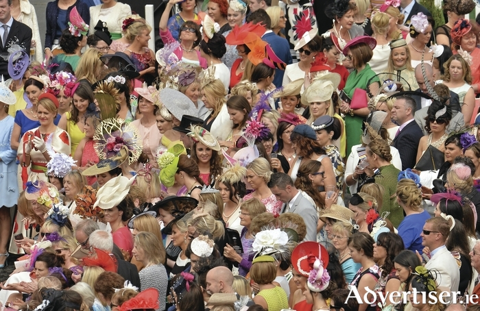 All of the colour of Ladies Day at the Galway Race. Photo: Sportsfile