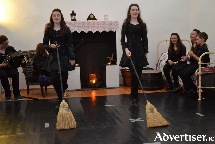 Dancers in the Country Cottage show at Enniscoe House, Crossmolina