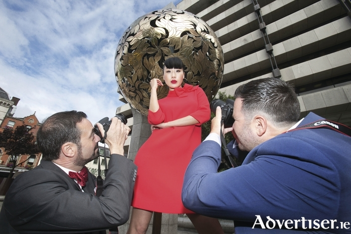 Top Irish model Yomiko Chen at the launch of the Young Fashion Photographer competition.
