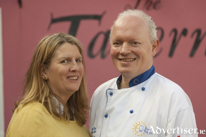 TOP TEAM: Husband and wife restaurateurs Myles O'Brien and Ruth Kiely. Photo: David Ruffles