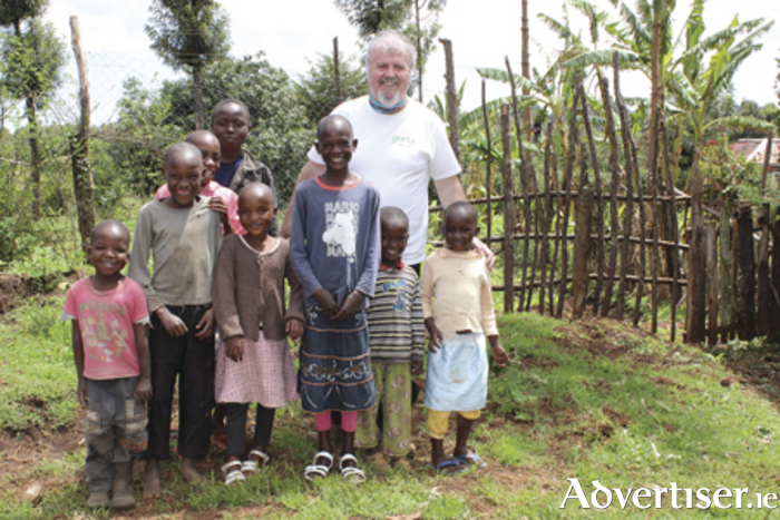 Ronan visiting beneficiaries in Nakuru in Kenya who been supported by the work of Gorta Self Help Africa.