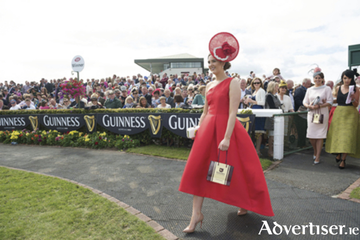 Alex Butler  from Ballyedmond, Midleton, Co Cork, won the coveted title of Kilkenny Best Dressed Lady at the 2015 Galway Races Ladies' Day, this year sponsored by the Kilkenny Group. Photo: Andrew Downes