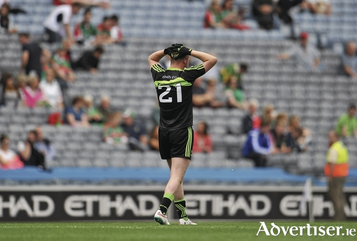 A bridge to far: The Mayo juniors were beaten by a superior Kerry side in the All Ireland Junior Final. Photo: Sportsfile