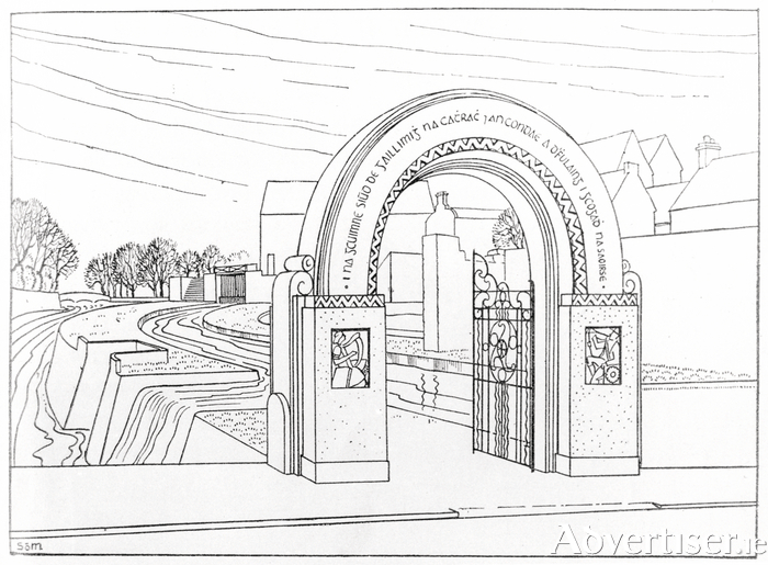 Design for the proposed 1916 Commemorative Arch.