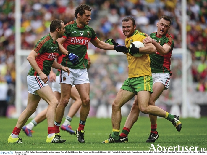 Shutting them down: Mayo were very solid in defence last week. Photo: Sportsfile