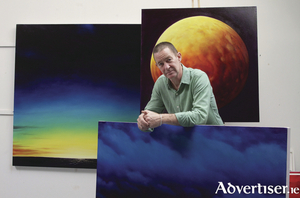 Painter Jim Kavanagh in his Annaghdown studio. Photo by Mike Shaughnessy.