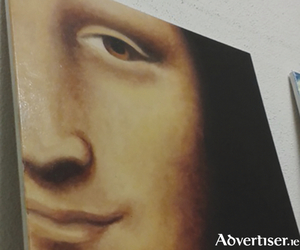 A close-up of Da Vinci's Mona Lisa, on show at the Market Street Gallery.