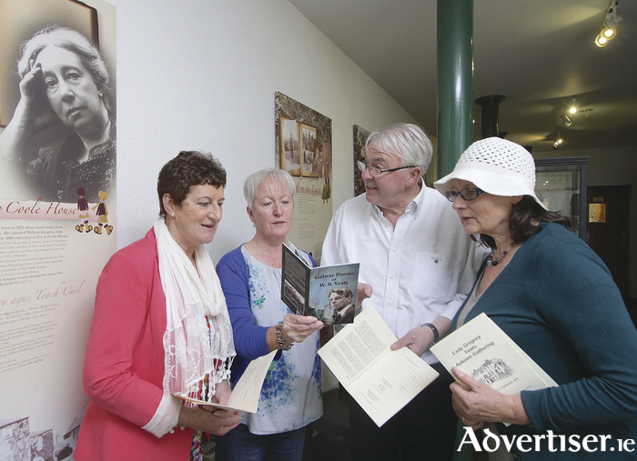 Rena McAllen, Marion Cox, Ronnie O'Gorman and Ann Neylon Murphy at the Coole Park Visitor Centre for the launch on the Lady Gregory Yeats Autumn Gathering.  Photo:-Mike Shaughnessy