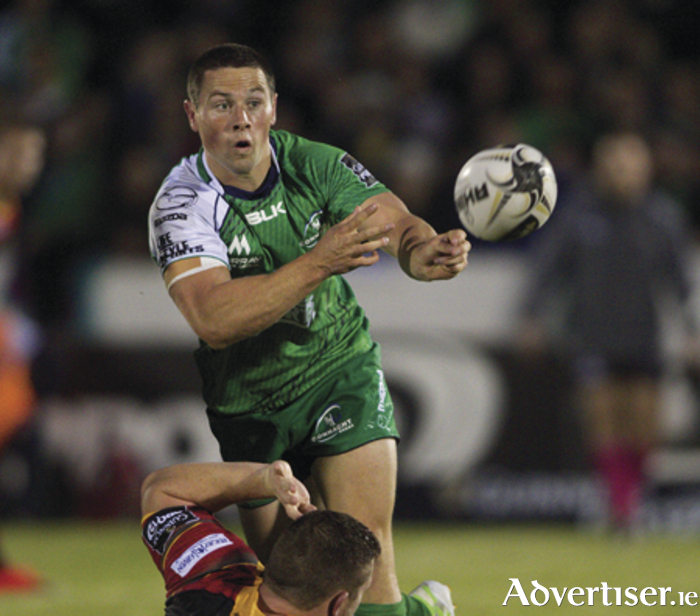 Connacht's John Cooney in action from the Guinness Pro 12 against Newport Gwnet Dragons at the Sportsground on Friday evening. Photo:-Mike Shaughnessy