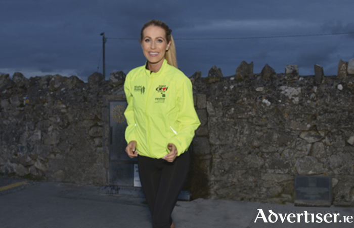 The inaugural Revive Active Galway Night Run on the Prom in aid of Croí was officially launched with Catwalk Model Mary Lee, on location on Salthill Prom where the 5km run will take place on Friday 16 October at 8pm. Register now for this 5km Run/walk at www.reviveactive.com/nightrunModel Mary Lee prepares for the Galway Night Run on October 16.