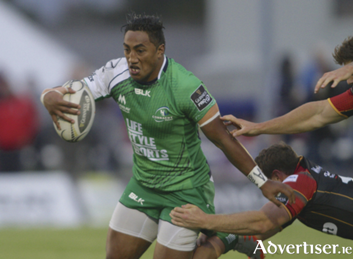 Bundee Aki continues to add potency to Connacht's backline.