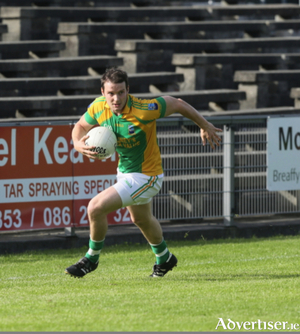 Going for glory: Eoin McCormack will be a key man for Ardnaree on Sunday. Photo: Michael Donnelly