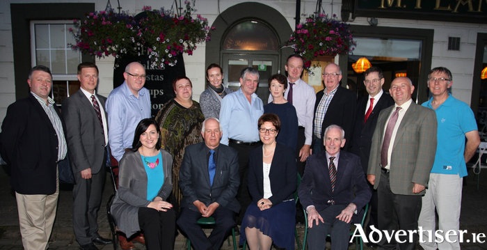 At the launch of the 2015 Fly Mayo Festival to take place from September 25 to the 27 with the Lithuanian Ambassador Rasa Adomaitiene, was the Ballinrobe management team, public officials, guests and repreresentitives from the Lithuanian Embassy and the Ballinrobe Community. Front row (left to right):Daina Petrauskiene (International Lithuanian Heraldry Foundation), David Hall (Ballinrobe Tourism Chairman), Ambassador Ras Adomaitiene, Patsy Murphy (Town Management Team). Back row (left to right):Councillor Damian Ryan, Andrius Visockis (Lithuanian Embassy), Liam Horan, Miranda Jankauskiene (Ballinrobe Lithuanian Community), Gabriele Klimaite-Zelviene (Lithuanian Embassy), Barry Gibbons, Anne and John Flannelly (Ballinrobe Racecourse), Martin Murphy, Deputy Eamonn O'Cuiv TD, Councillor Patsy O'Brien and Peter Heaps. Photo:Trish Forde.