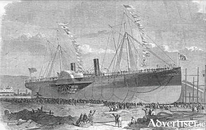 The SS Connaught, built at Newcastle-Upon-Tyne, foundered after a fire and sank off the Boston coast 1860.