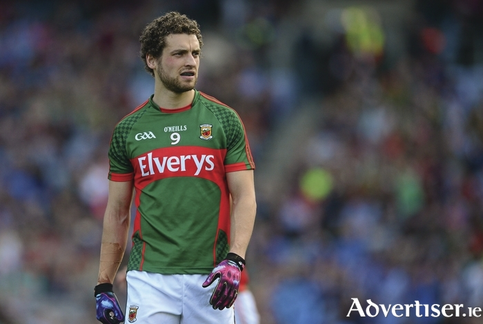Playing through the pain: Tom Parsons and others played through the pain barrier for Mayo. Photo: Sportsfile