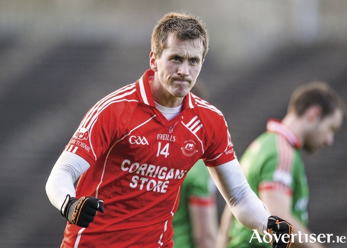 Back in red: Cillian O'Connor and Ballintubber are back defending their county senior title this weekend. Photo: Sportsfile