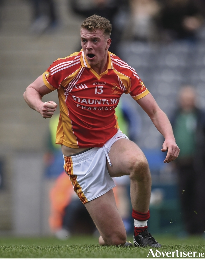 Powering through: Danny Kirby and his Mitchels team-mates are back in the Mayo GAA SFC semi-finals. Photo:Sportsfile