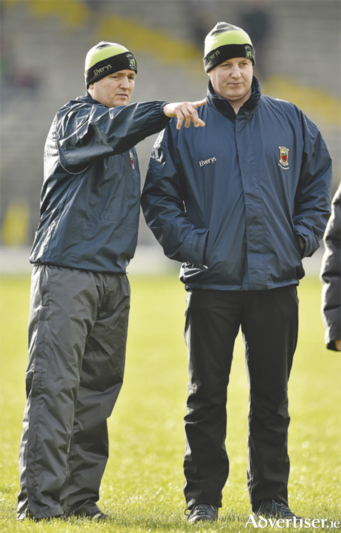 Joint Mayo managers Pat Holmes, left, and Noel Connelly. Picture: Brendan Moran/SPORTSFILE