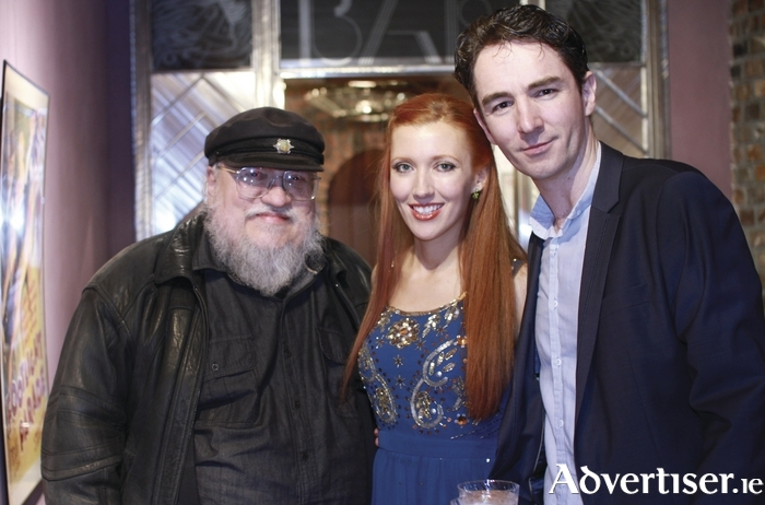 George RR Martin, Amy-Joyce Hastings, and Graham Cantwell.