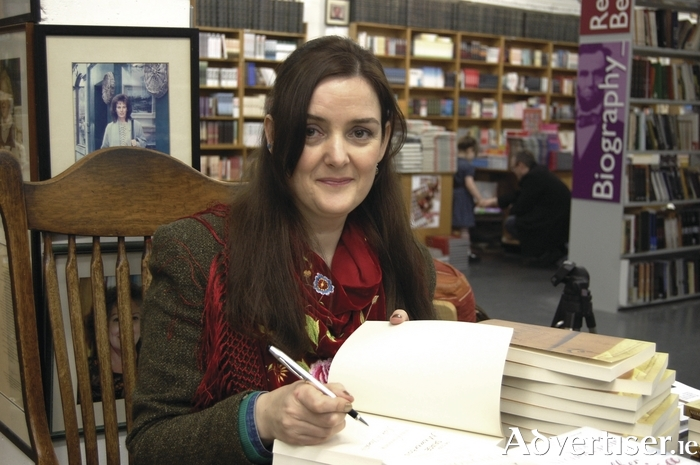 Nuala Ni Chonchuir signing in Kennys 2014 - Photo DEAN KELLY