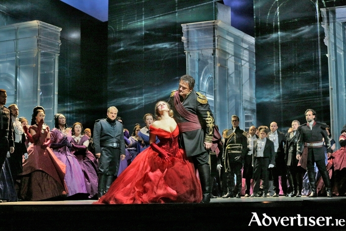 A scene from New York's Metropolitan Opera's production of Verdi's Otello.