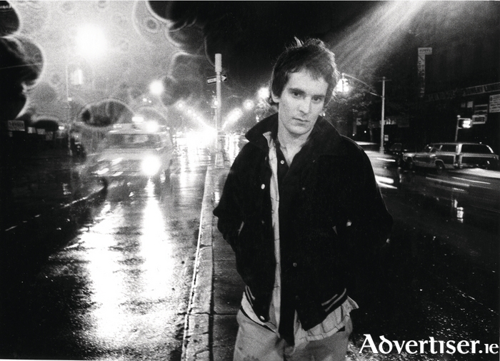 Alex Chilton photographed in The Bowery, southern Manhattan, in the late 1970s.