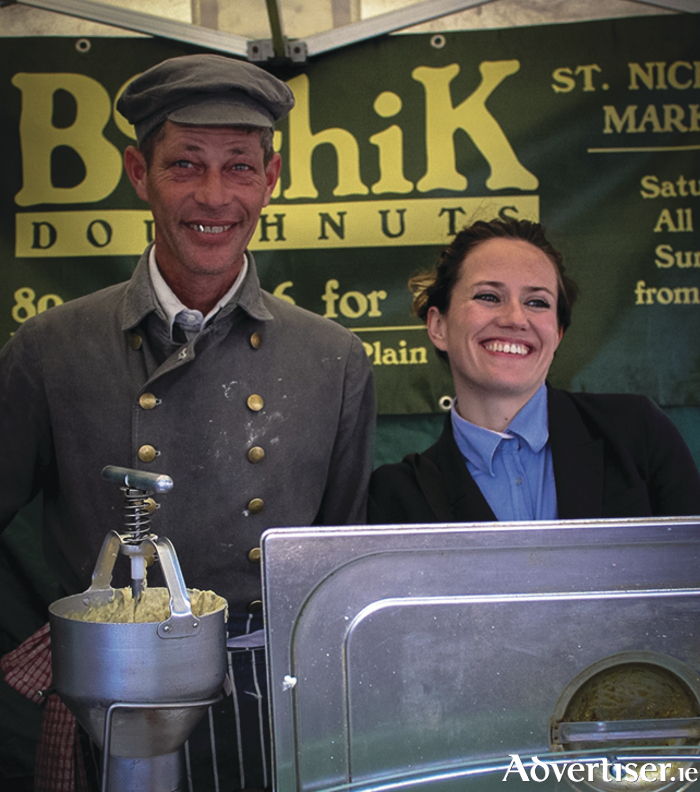 Sheena Dignam with Daniel Rosen of Boychik Doughnuts.