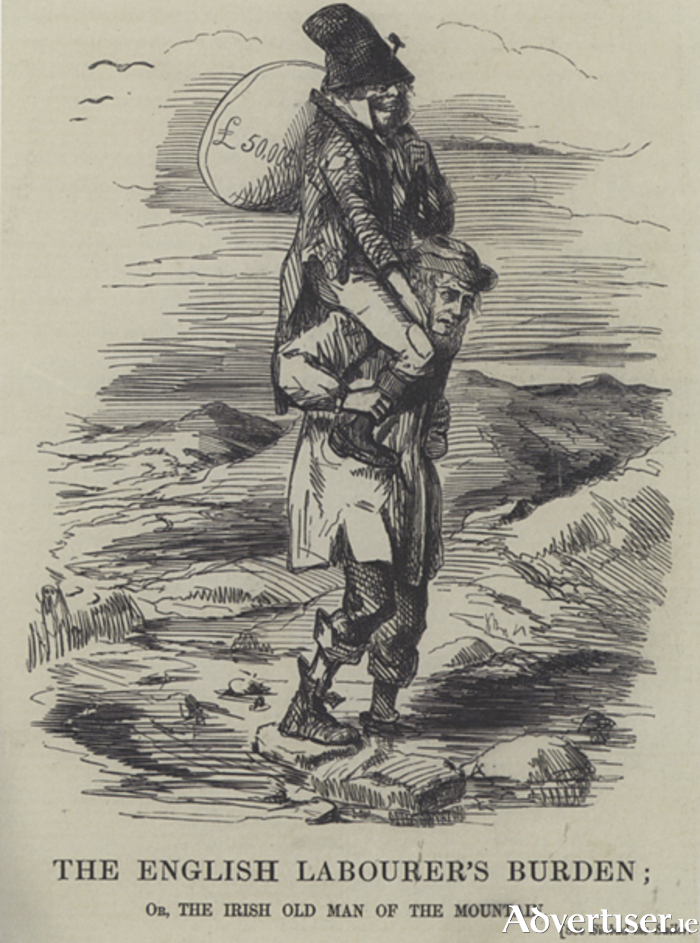 'The English Labourer's Burden, published by  Punch magazine, February 17 1849.