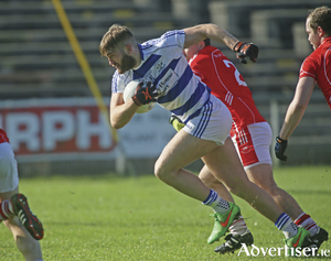 Catch me if you can: Can Castlebar Mitchels stop Aidan O'Shea on Sunday. Photo: Michael Donnelly