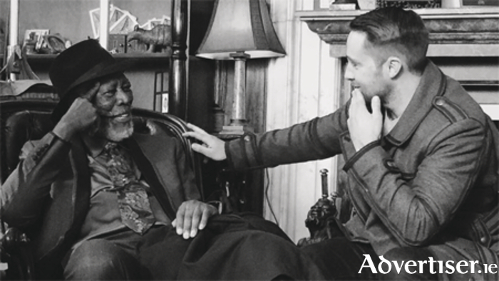 Keith Barry with legendary actor Morgan Freeman