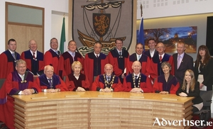 The current 18 members of the Galway City Council. Photo:- Mike Shaughnessy