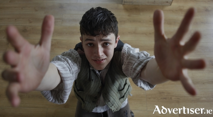 Actor Stephen O'Leary who plays the tragic teenager Patrick O'Brien in The Unlucky Cabin Boy. Photo:- Tom Lawlor