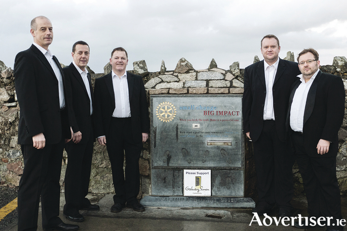 The A Capella Knights pictured at the Salthill Rotary Club Kick the Wall on the Salthill Prom.