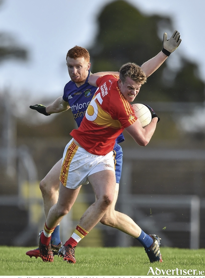 Power play: Danny Kirby breaks past his marker in Castlebar Mitchels win on Sunday. Photo: Sportsfile