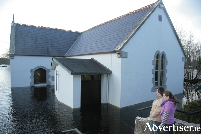 Kiltartan Church during the 2009 floods. Photo:- Mike Shaughnessy