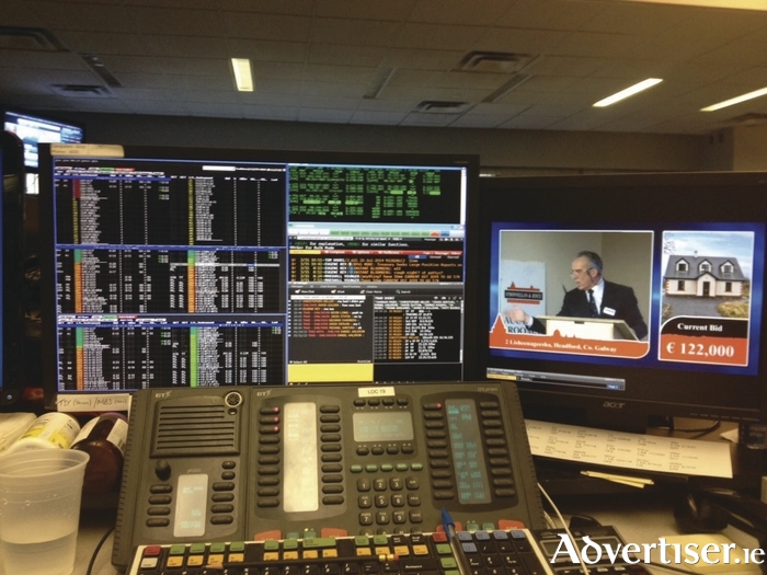 An O'Donnellan & Joyce auction being streamed live in Wall Street.