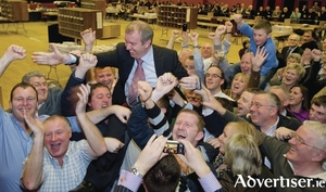 Brian Walsh during his 2011 General Election victory. Photo:- Mike Shaughnessy