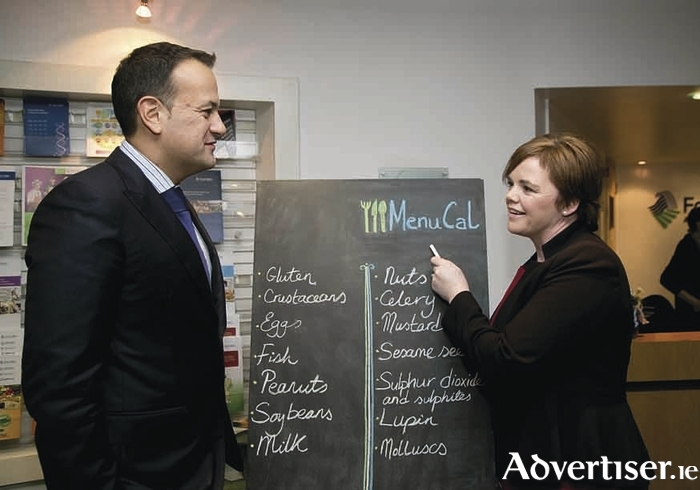 Minister for Health Leo Varadkar and Dr Pamela Byrne, chief executive, Food Safety Authority of Ireland. Picture Colm Mahady / Fennells.
