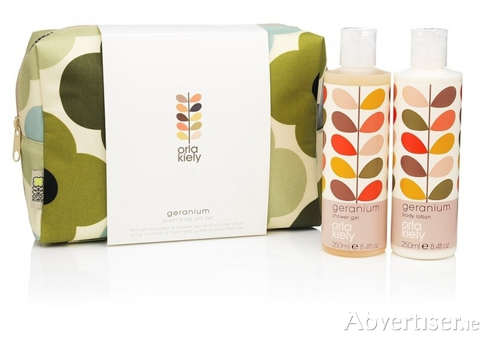 Orla Kiely exclusive wash bag set, was €34.95 now €20.97 (20 per cent off).