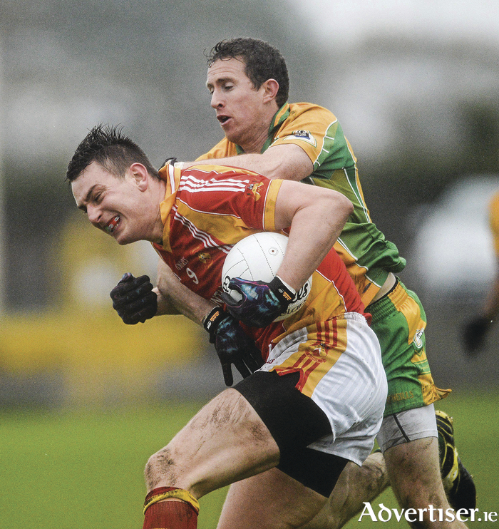 Round two: Barry Moran and Corofin's Liam Silke will be going toe to toe again on Sunday in the Connacht Senior Football Championship Club final. Photo: Sportsfile.