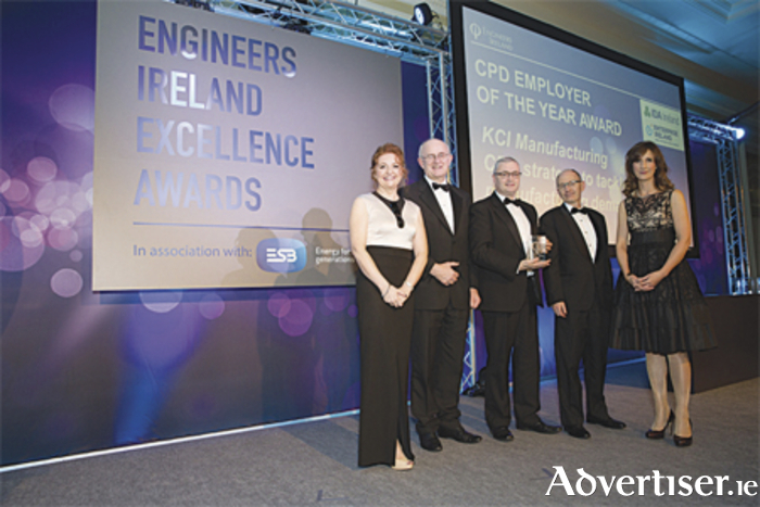 Engineers Ireland Excellence Awards 2015. CPD Employer of the Year went to KCI Manufacturing of Athlone. Photo: Naoise Culhane
