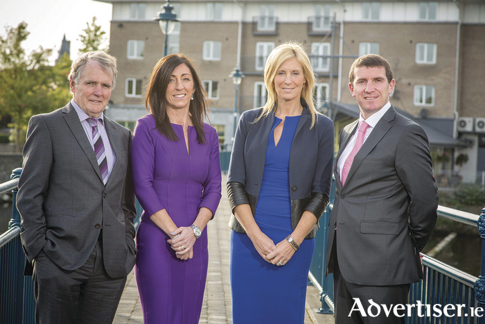 Founder of Collins McNicholas Colman Collins (left) with the three new owners Antoinette O'Flaherty, Michelle Murphy and Niall Murray (ltr) who have announced an MBO of the recruitment company.