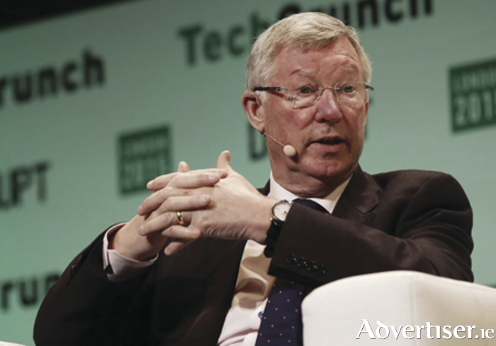 Sir Alex Ferguson speaking at Techcrunch