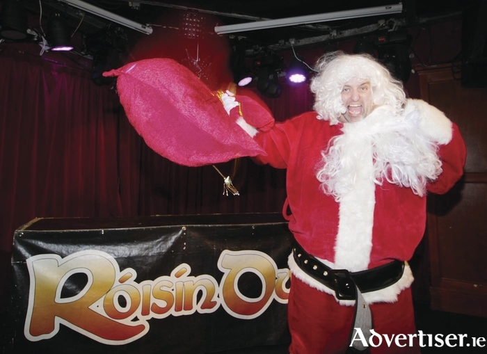 Karl Spain gets into the Christmas spirit. Photo:- Mike Shaughnessy